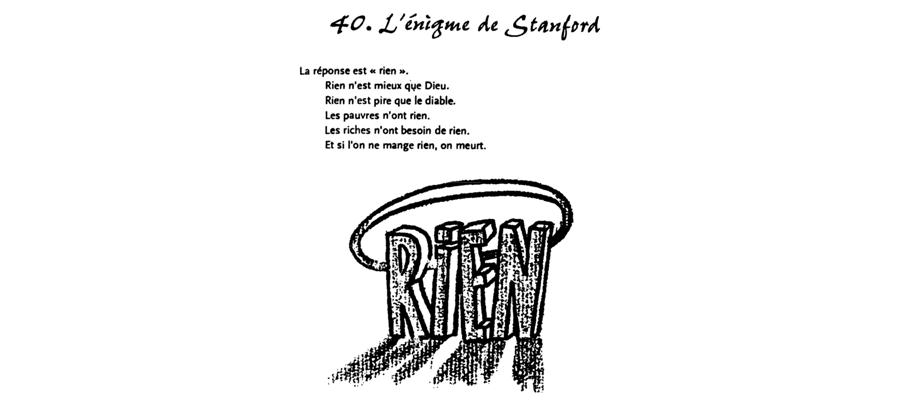 L'énigme de Standford